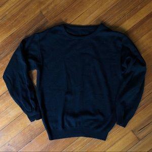 vintage crew neck black sweater